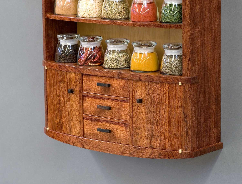 spice cabinet bottom drawer