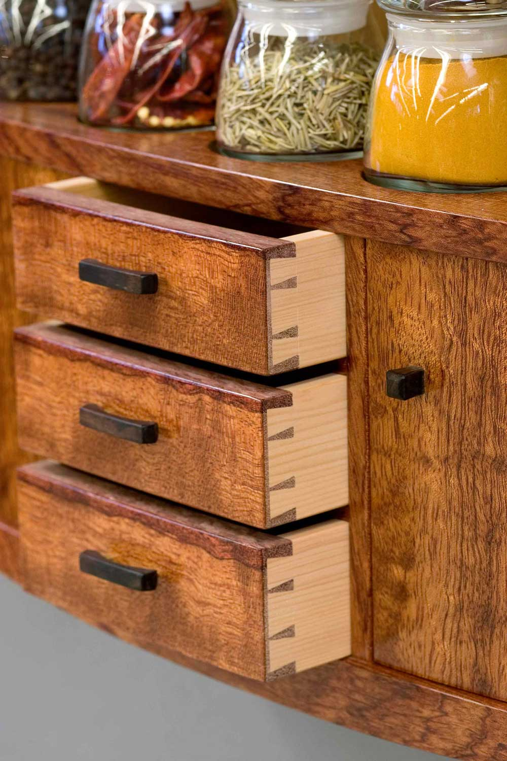 spice cabinet dovetail drawers