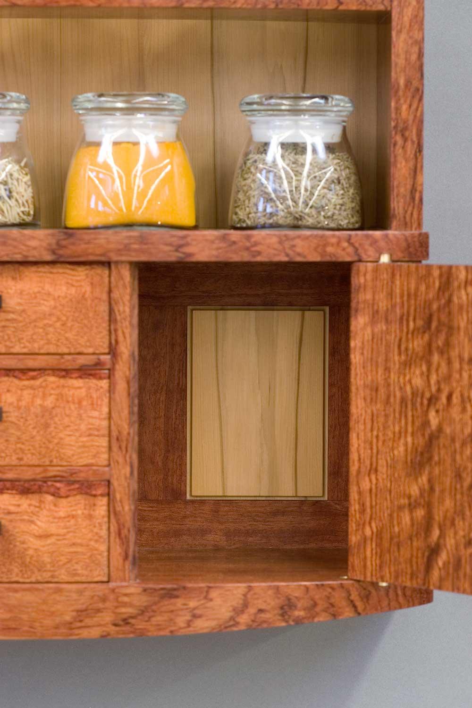 spice cabinet leftside backboard