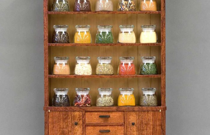spice cabinet front view